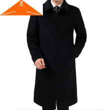 Mens Long Winter Coats 3XL Men's Woolen Jackets Cashmere Coat Business Casual Wool & Blends Jacket Overcoat HH947(China)