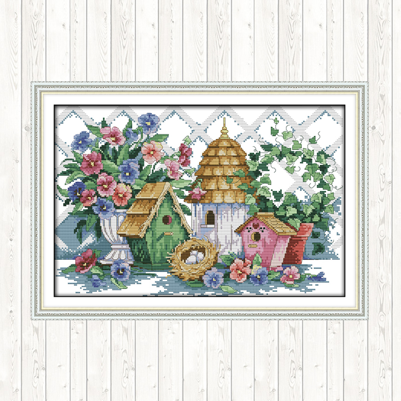 Joy Sunday Counted Cross Stitch Set Aida Fabric for Embroidery Kit DMC DIY for Needlework 14ct 11ct Printed Canvas Cross Stitch image