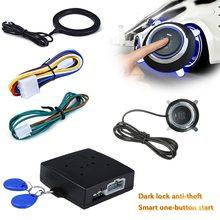 12V Universal Push Start Stop Button Smart Key  Car Alarm Push Button Start Keyless Transponder Immobilizer