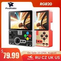 Powkiddy-consola de juegos portátil RGB20, integrada, 4000 juegos, pantalla IPS de 3,5 pulgadas, RK3326, batería de 3000mAh, 2021