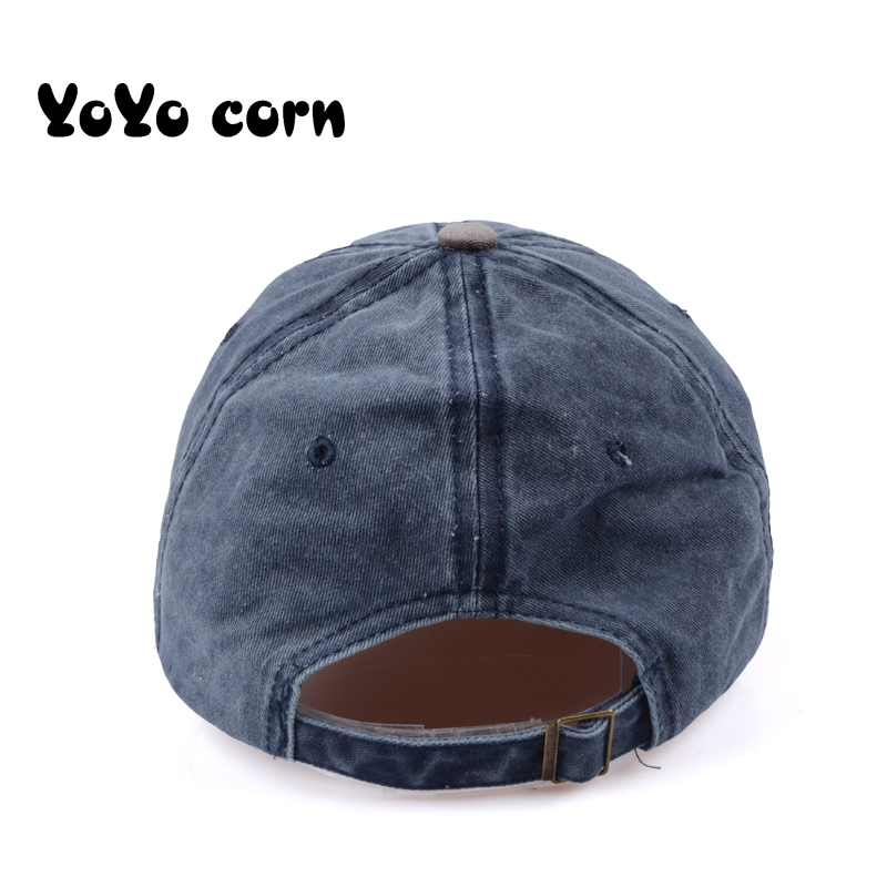 YOYOCORN Hot Retro Washed Baseball Cap Fitted Cap Snapback Hat For Men Bone Women Gorras Casual Casquette Letter Black Cap in Men 39 s Baseball Caps from Apparel Accessories