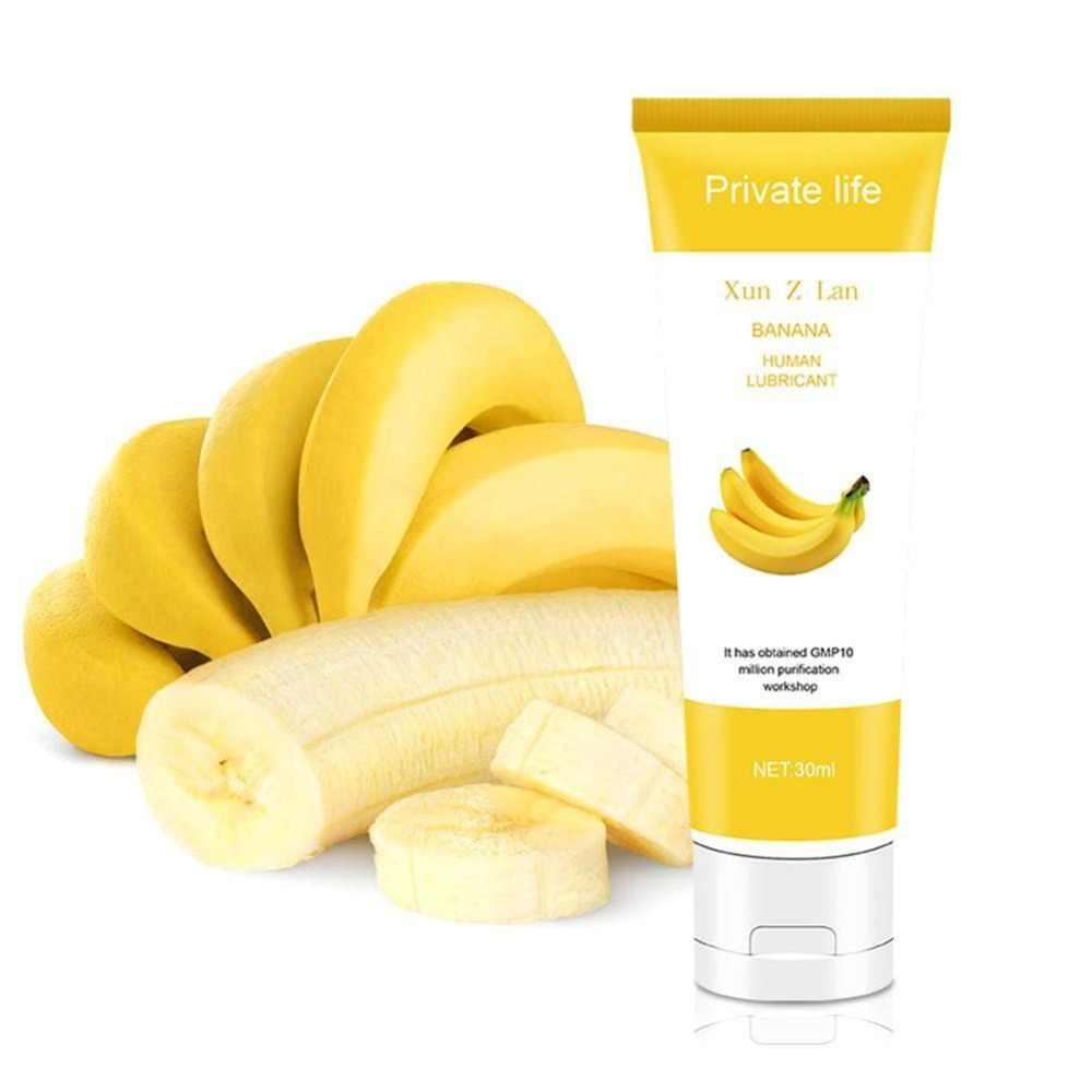 30/60/100MLน้ำมันหล่อลื่นครีมกล้วยสตรอเบอร์รี่ครีมSex Lube Body Massageน้ำมันน้ำมันหล่อลื่นAnal Sexจาระบีช่องปากช่องคลอดLove Gel