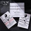 17 км Новый DIY браслет с шармами для пар 2 шт./компл. браслет из натурального камня с бусинами и сердечками 2020 для женщин и мужчин, ювелирные изд...