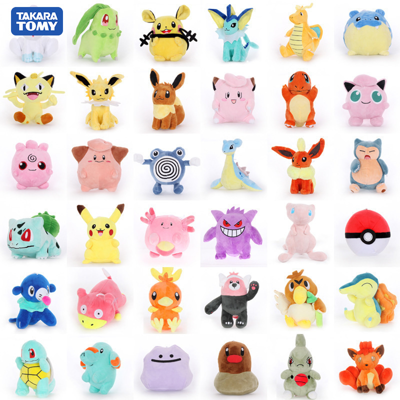 takara-tomy-font-b-pokemon-b-font-pikachu-mewtwo-venusaur-umbreon-dragonite-wartortle-mudkip-animal-plush-stuffed-toys-for-children
