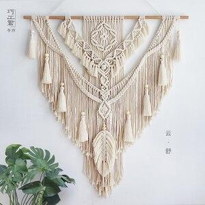 75*95 см скандинавские богемные макраме настенный гобелен ручной работы TasselHome Настенный декор большой гобелен