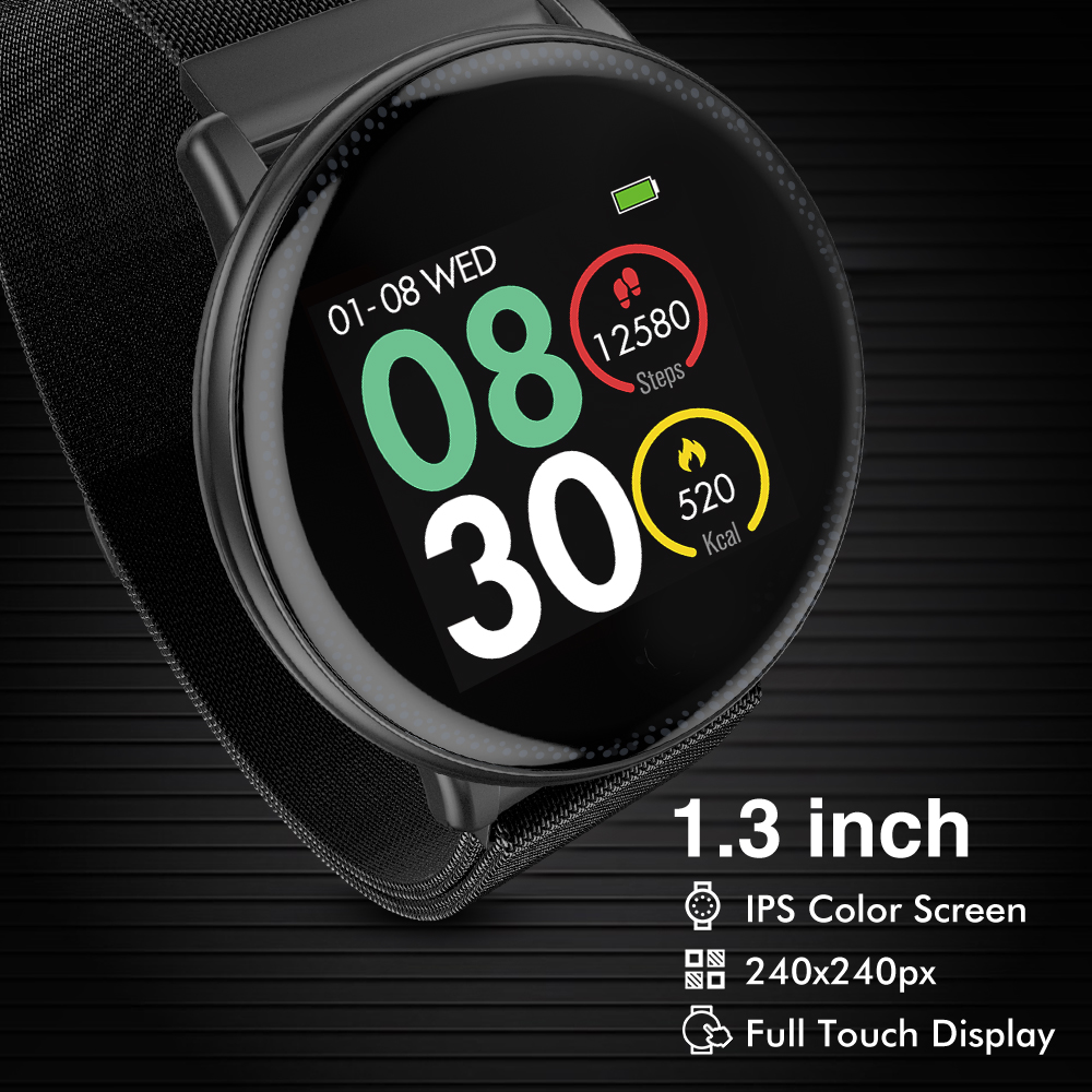 Image 2 - UMIDIGI Uwatch2 Man Smart Watch Women Android IOS Waterproof IP67  1.33 Full Metal Touch Screen 7 Sport Modes Heart Rate MonitorSmart  Watches