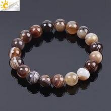Мужской браслет csja из натурального драгоценного камня агата