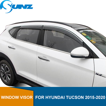 цена на Smoke Car Wind Deflector For HYUNDAI TUCSON 2015 2016 2017 2018 2019 2020 Car Window Deflector Visor Vent Rain Guard SUNZ