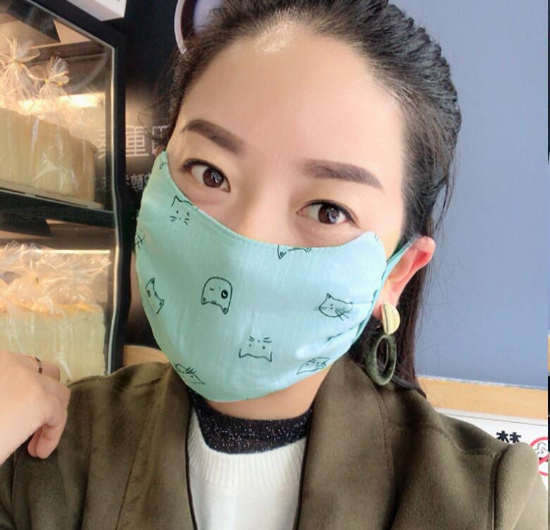 Women's Autumn Winter Thicken Warm Cotton Mask Female PM 2.5 Breathable Cotton Sunscreen Mouth-muffle R2855