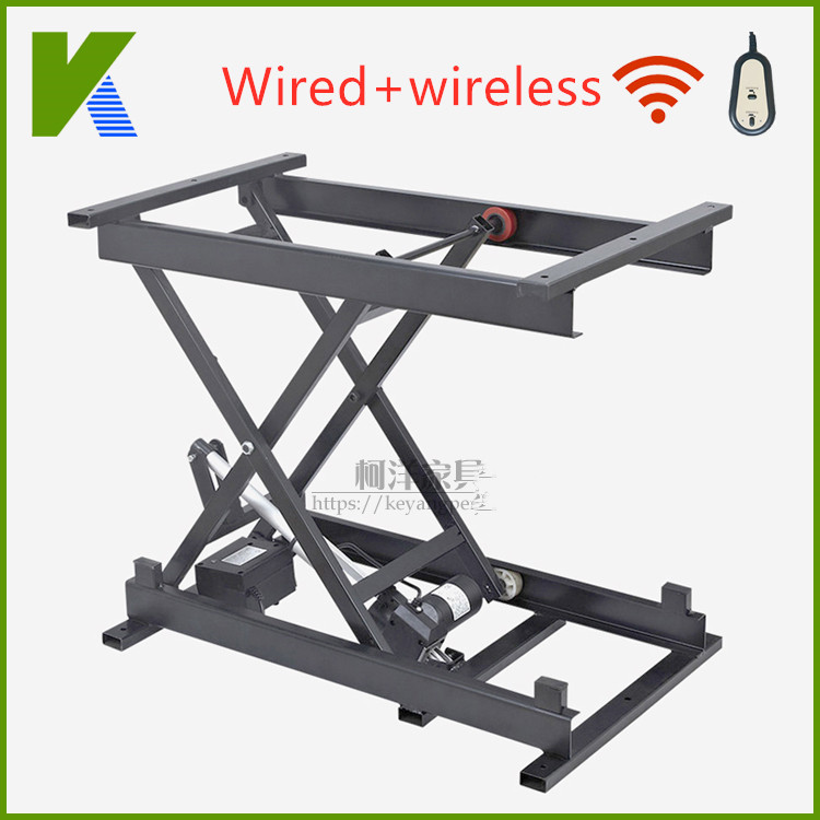 Intelligent Home Elevator Hardware Accessories Wired Wireless Control Tea Table Elevator Vertical Lifting Steel Frame Iron Frame