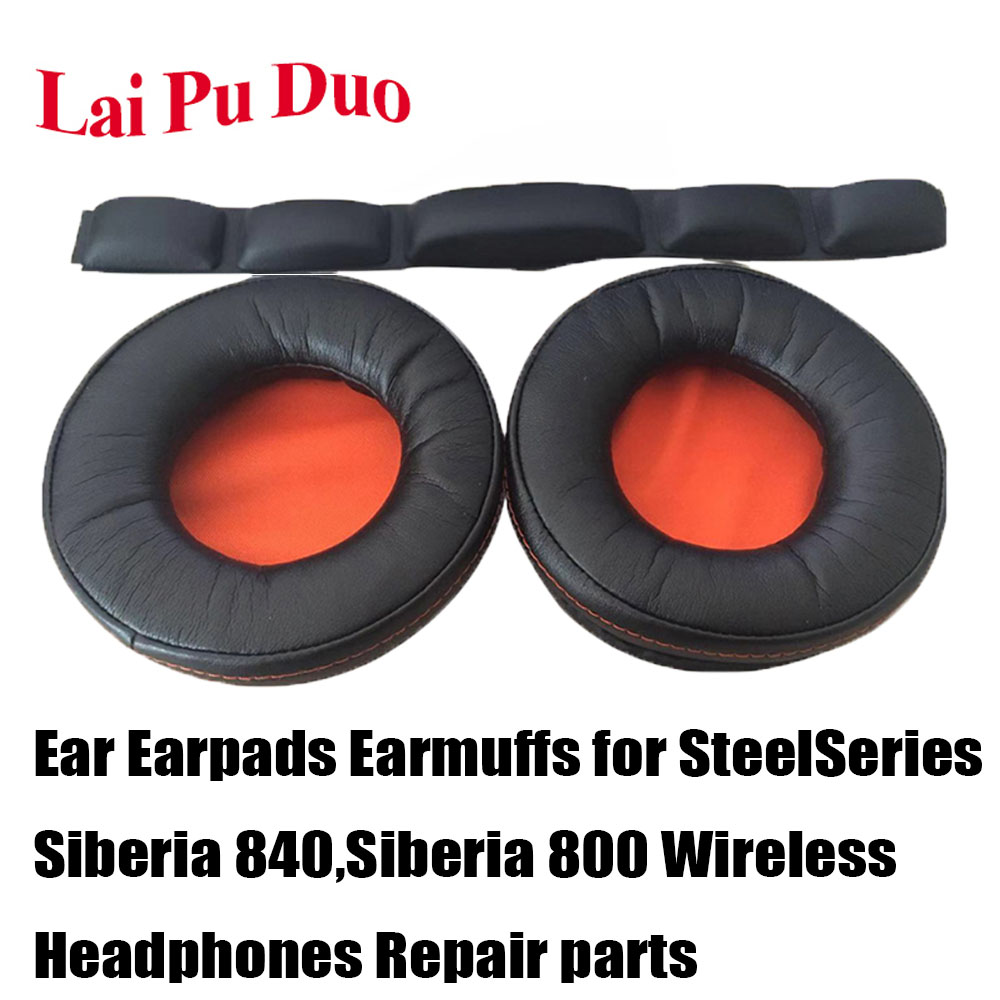 Replacement Ear pads Ear Earpads Earmuffs for <font><b>SteelSeries</b></font> <font><b>Siberia</b></font> 840,<font><b>Siberia</b></font> <font><b>800</b></font> Headphones Repair parts image