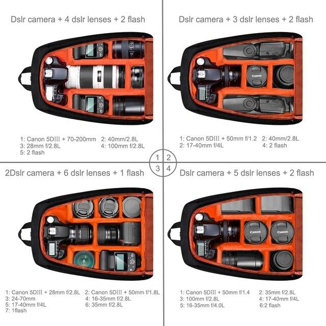 PULUZ Photo Backpack DSLR Bag Tripod Bag Outdoor Portable Waterproof Camera Photography Sac Appareil Reflex Black Sac appareil 4
