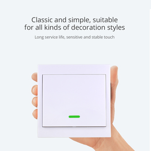 Image 3 - TISHRIC RF Remote Controller 433Mhz Transmitter Wall Panel Sticky Smart/Google Home work with SONOFF RF/T1/T2/Bridge/4CH PRO r2