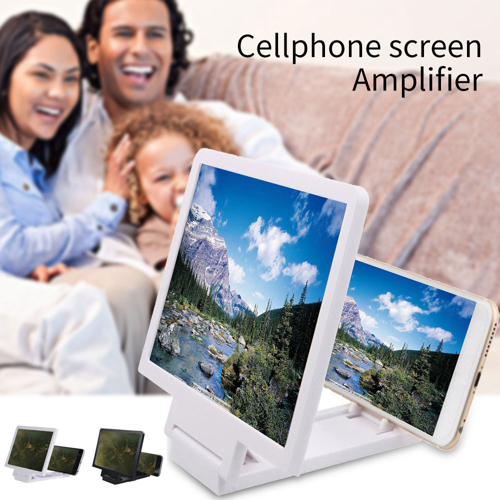 3D Phone Screen Amplifier For IPhone Samsung Magnifying Screen Amplifier Mobile Phone Foldable Stand Enlarged Expander Projector