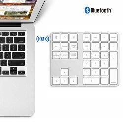 Mini klawiatura bezprzewodowa aluminiowa klawiatura numeryczna BT Pad 34 klawisze klawisze zewnętrzne skrót numeryczny klawiatura bezprzewodowa BT 50 godzin użytkowania