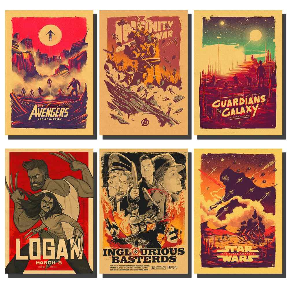 Marvel Comics Movie Poster / Retro Poster / Avengers Poster / Star Wars Poster / Various Classic Movie Posters