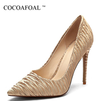 COCOAFOAL Woman High heels Shoes Party Fashion Sexy Stiletto High heels Shoes Plus Size 43 Wedding Red Black Gold Pumps