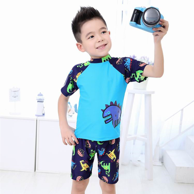 KID'S Swimwear BOY'S Swimming Trunks Set Surfing Suit Boy Split Type Tour Bathing Suit South Korea Baby Sun-resistant Swimwear S