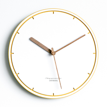 Nordic Modern Design Wall Clock Wood Silent Minimalist Blue Living Room Wall Watches Relogios Parede Bedroom Watches AA60WC