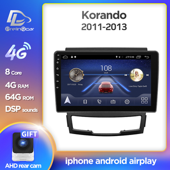 Prelingcar Android 10 For SsangYong Korando Actyon 2011 2012 2013 Car Radio Multimedia Video Player GPS Navigation NO DVD 2 Din image