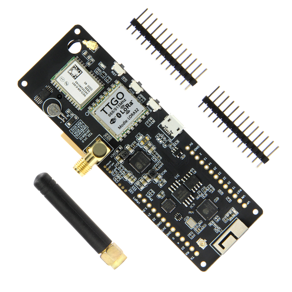 TTGO T-Beam ESP32 433 868 915Mhz WiFi Wireless Bluetooth Module ESP 32 GPS NEO-6M SMA LORA 32 18650 Battery Holder With SoftRF