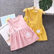 IENENS – robe d'été sans manches pour filles, vêtements en coton, mignons, pour bébés de 1 à 4 ans