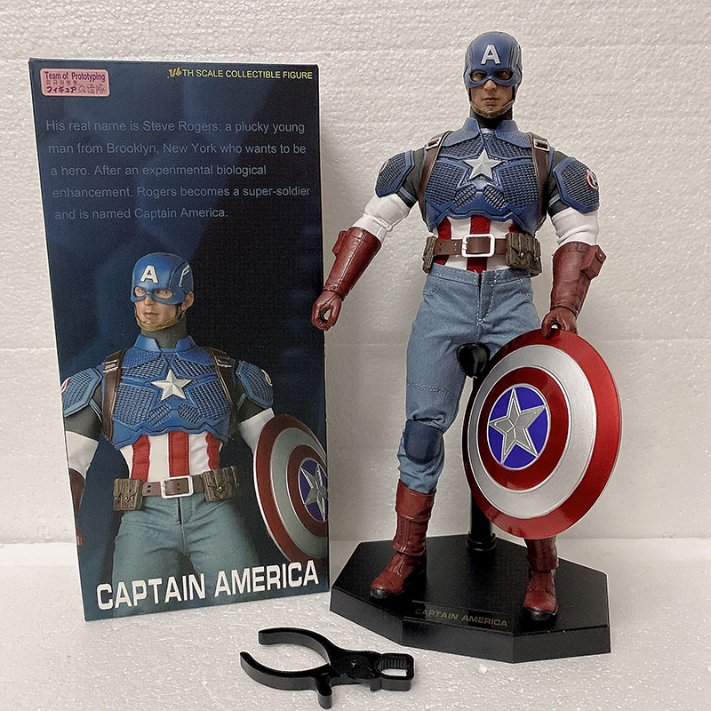 Crazy Toys Figure Captain America 1/6  Action Figure Team Of Prototyping Captain American Action Figures Model Toy
