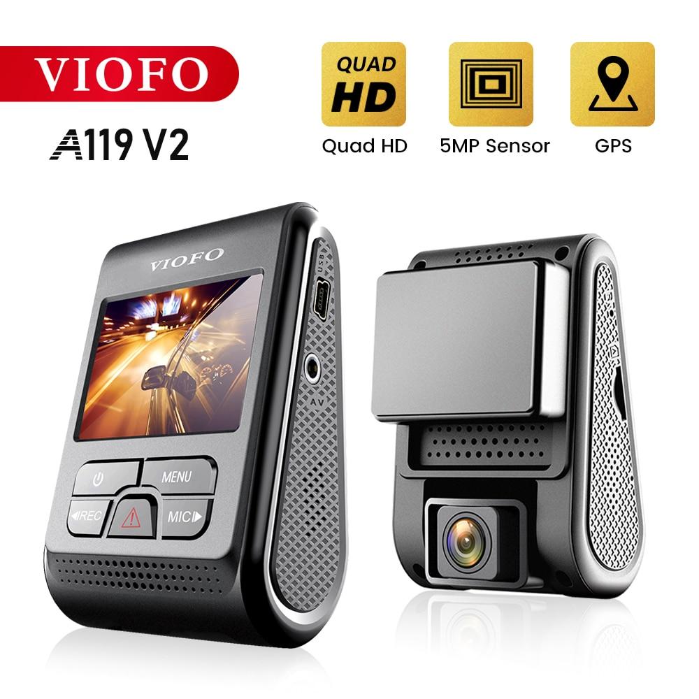 Автомобильный видеорегистратор VIOFO A119 V2 Quad HD, супер конденсатор 2K 2560*1440P, видеорегистратор dvr, опциональный фильтр gps CPL