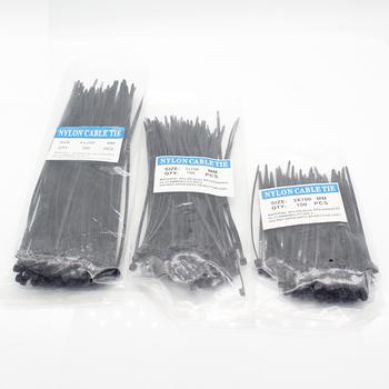 300 sztuk kabel nylonowy samoblokujący drut z tworzywa sztucznego Zip krawaty zestaw 3*100 3*150 4*200 MRO i dostaw przemysłowych łączniki i kabel sprzętu tanie i dobre opinie ELECAPITAL CN (pochodzenie)