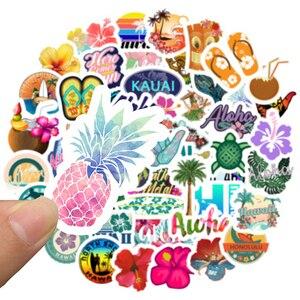 50 шт. Гавайский тропический пляж лето Гибискус цветок мультфильм наклейка для ноутбука компьютер скейтборд багаж игрушечный Шлем Наклейка s F5