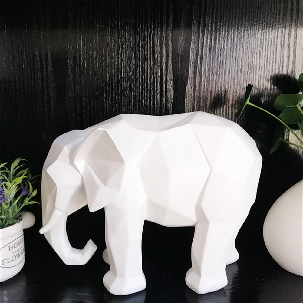 Simple Resin Elephant Ornament Animal Figurine Toy For Office Home Decoration
