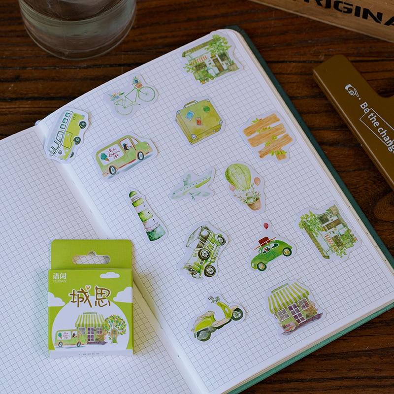 50pcs/pack Cute Flower Unicorn Posters Mini Paper Sticker Decoration Diary Scrapbooking Label Sticker Stationery 4