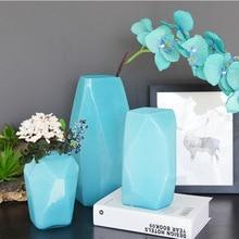 Прозрачное украшение для стеклянной вазы американская кантри ваза из цветного стекла геометрические творческие стеклянные ремесла ваза для украшения интерьера