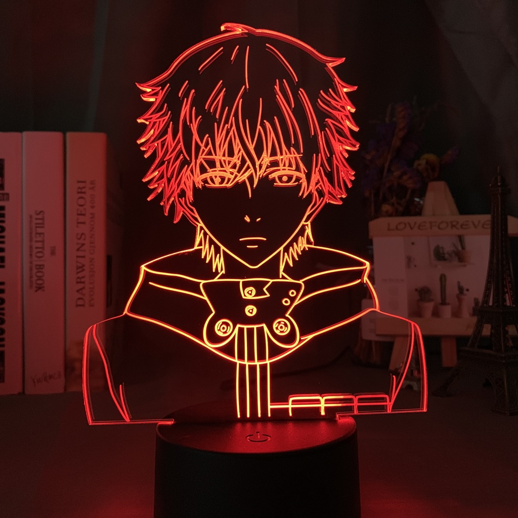 3D светодиодный Ночной светильник с надписью «Tokyo Ghoul Ken Kaneki уход за кожей лица ночной Светильник для чтения номер Декор Светильник Аниме подарок на день рождения настольная лампа Usb