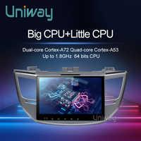 Uniway AXTS1071 4G+32G android 9.0 car dvd for Hyundai Tucson/IX35 2016 2017 multimedia car radio gps navigation car stereo