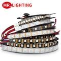 Умная светодиодная Пиксельная лента APA102, 5 м/лот; 5 в постоянного тока, 30/60 светодиодов/пикселей/м; Данные и часы отдельно; IP30/IP65/IP67; Светодиодн...