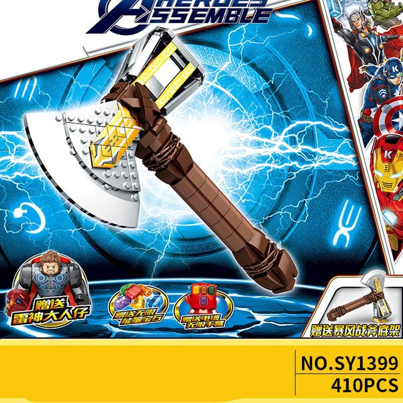2019-Building-Block-Super-Heroes-Bricks-Weapon-Mjolnir-Stormbreaker-Infinity-Gauntlet-Figures-for-Children-Toys-Christmas (2)