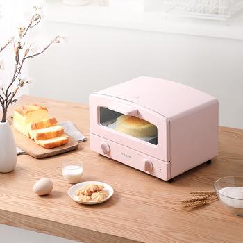 Minipiekarnik 12L gospodarstwa domowego piekarnik elektryczny maszyna do pieczenia chleba inteligentny czas pieczenia domu życie kuchnia toster do chleba 1000W tanie i dobre opinie HAIMAITONG 11-20l 801-1200 w 220 v CN (pochodzenie) kombiwar Poziome STAINLESS STEEL Mechaniczny minutnik Mechaniczne