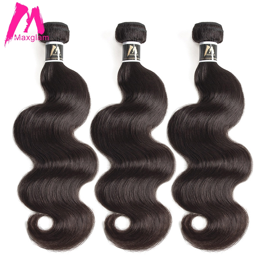 Brazilian Hair Weave Bundles 8 To 30 40 Inch Human Hair Bundles Non-remy Natural Color Body Wave Hair Extension 1 3 4 Pieces