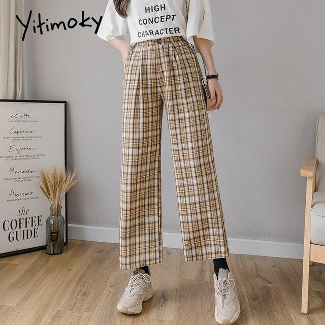 Vintage Plaid Pants High Waist Plus Size  5