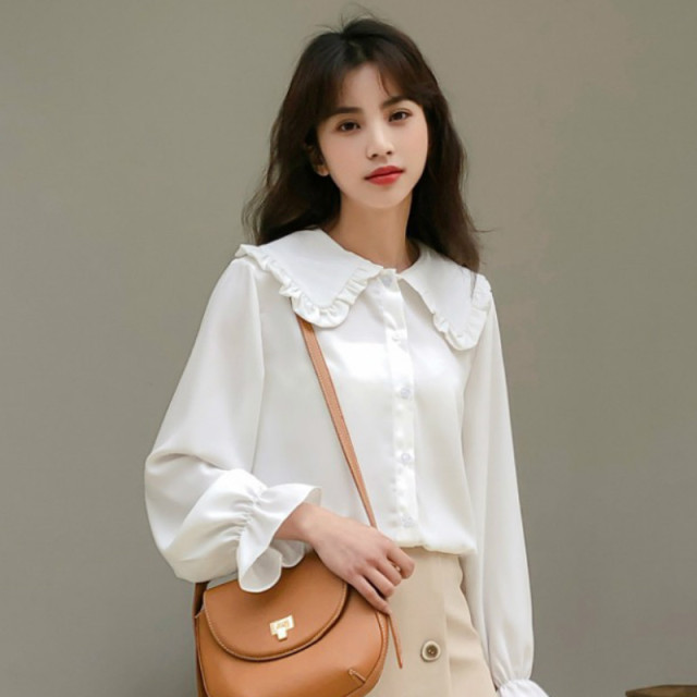 Shirts Women Solid Simple New Arrival Spring Korean Style Chic Trendy Casual Blouses Elegant Vintage Womens Streetwear All-match 2