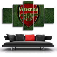 5 Pieces Canvas Paintings Premier League Arsenal Posters Football Sports Soccer Prints Wall Art Kids Room Decor