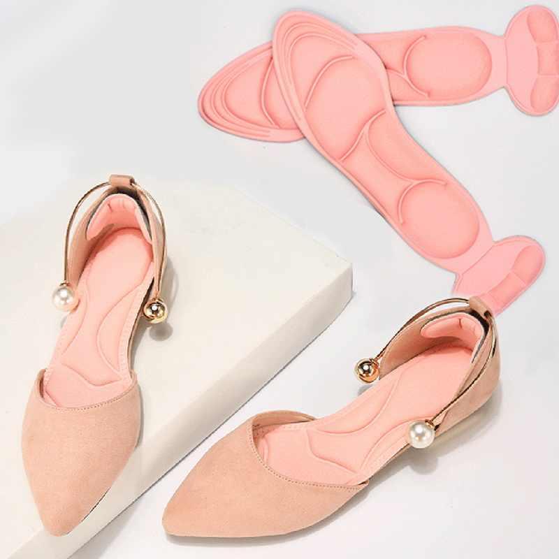 1 par feminino palmilha almofada respirável antiderrapante inserções de salto alto almofada de inserção pé protetor de calcanhar sapatos acessórios