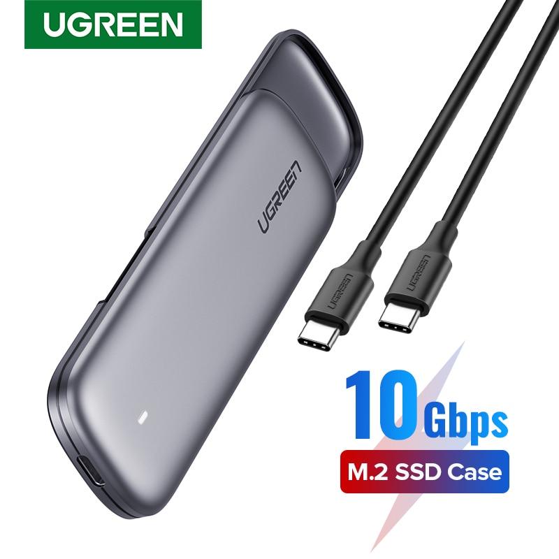 Корпус UGREEN SSD M.2 NVMe, корпус USB C PCIe M2 SSD Caddy для Samsung 970 EVO WD Type C 3,1 Gen2 M + B M-Key, адаптер корпуса