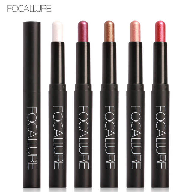FOCALLURE Eyeshadow Stick 12 Colors Eye Shadow Pencil Eyes Makeup Pen Easy to Wear Long Lasting Shimmer Cosmetics Tool 2