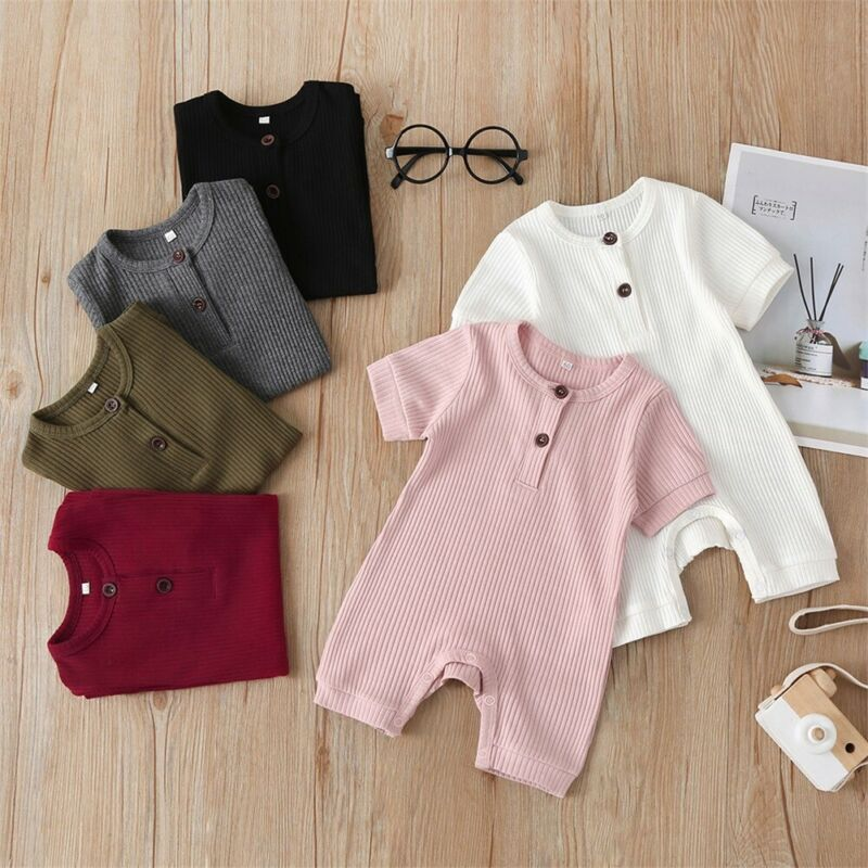 Newborn Infant Baby Boy Girl Knitted Jumpsuit Clothes Outfits