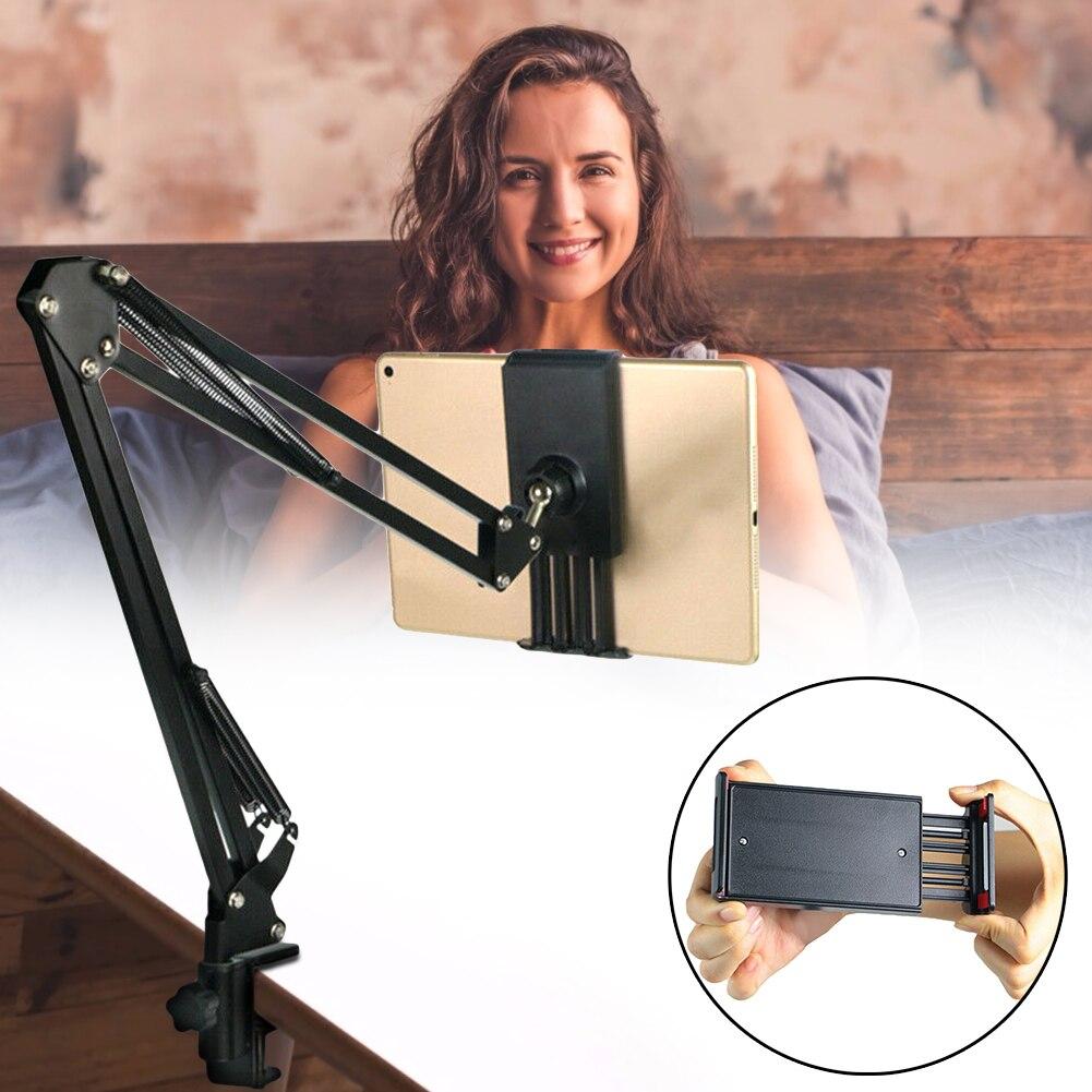Tablet Holder For Ipad Stand 234 Mini Support Long Arm Mobile Phone Tablet Bed/Desktop Car Clip Bracket Mount Bracket Lazy Shelf