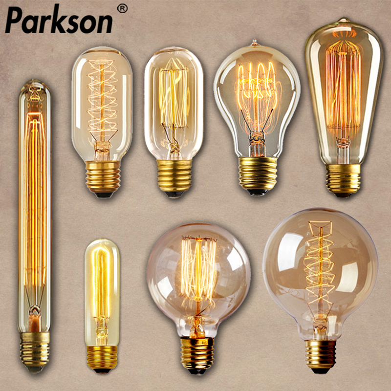 E27 Retro Edison Bulb AC 220V 110V 40W Dimmable Vintage Edison Light bulb ST64 G80 G95 T225 T300 Incandescent Lamp Edison Lamp