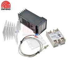 Thermostat numérique Rex C100 PID, régulateur de température, sortie SSR + relais Max.40A SSR + sonde de Thermocouple K 1M 2M