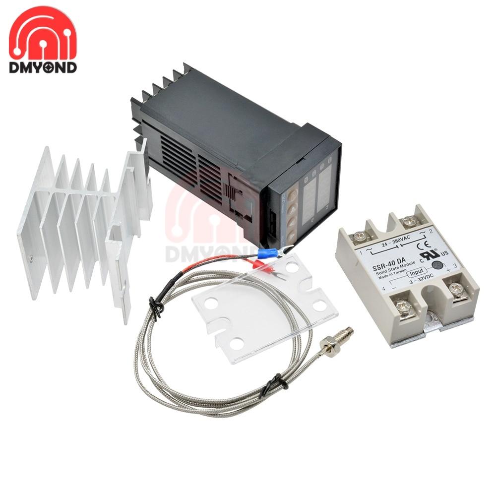 REX-C100 Thermostat numérique Rex C100 PID régulateur de température sortie SSR + Max.40A relais SSR + K Thermocouple 1M 2M sonde